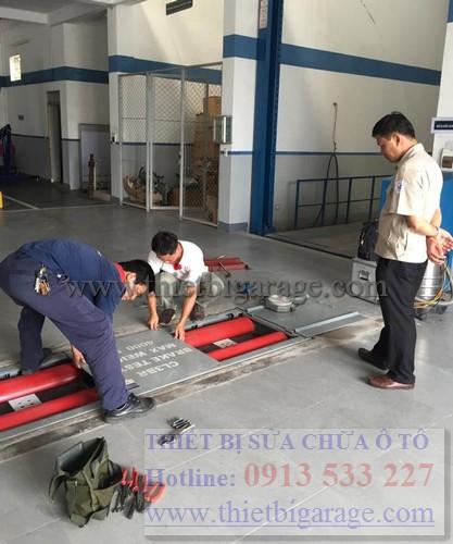 Bệ thử phanh xe du lịch lắp tại Thái Nguyên