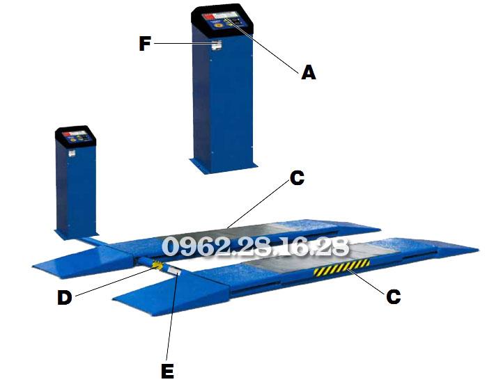 cầu nâng cắt kéo Bendpak SP-7X | cầu nâng kiểu xếp | cầu nâng lắp âm | cau nang cat keo