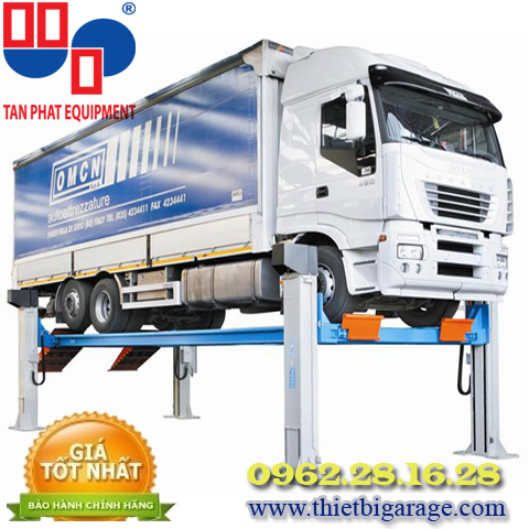 cầu nâng ô tô 4 trụ cho xe tải | cầu nâng xe tải | cầu nâng 4 trụ cho xe buýt | cau nang oto 4 tru