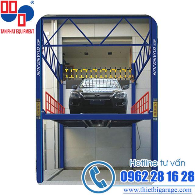 cầu nâng vận thăng | cầu nâng đưa xe lên tầng