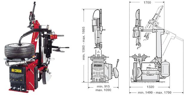 máy tháo vỏ xe ô tô tự động | máy tháo vỏ xe | máy ra vỏ tự động | máy tháo vỏ không dùng lơ via