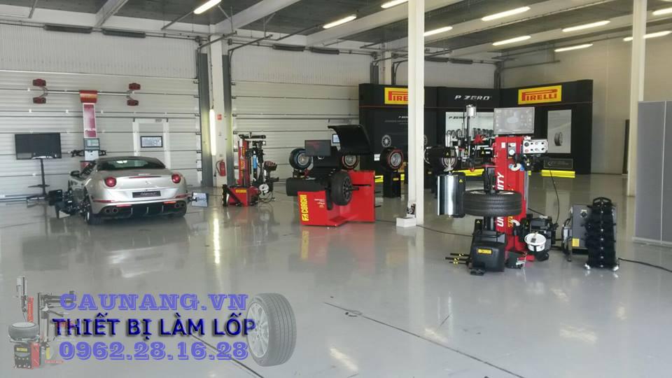 thiết bị cho xưởng dịch vụ mâm lốp | thiết bị làm lốp | máy ra vỏ | máy cân mâm | máy cân chỉnh độ chụm