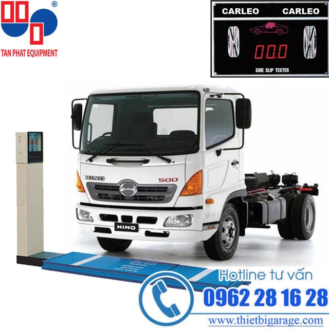 thiết bị kiểm tra độ trượt ngang xe tải carleo sl-500 | thiet bi do do truot ngang | thiết bị cho xưởng đóng thùng xe tải