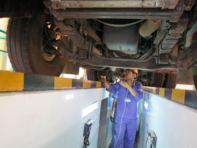 thiết bị kiểm tra gầm xe tải | thiết bị kiểm tra rung lắc xe tải | thiết bị kiểm định xe cơ giới